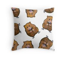 Hamster Pattern: Hamsters on White: Illustration Throw Pillow