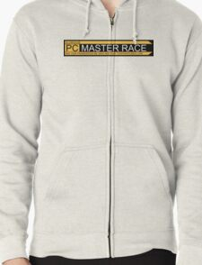 Pc Master Race Banner Zipped Hoodie