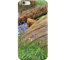 Blue Bells and Tree Stump iPhone Case/Skin