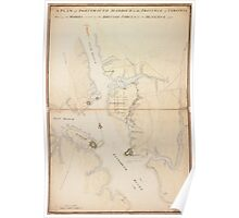 American Revolutionary War Era Maps 1750-1786 198 A plan of Portsmouth Harbour in the province of Virginia shewing the works erected by the British forces for Poster