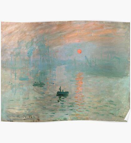 Claude Monet - Impression Sunrise Poster