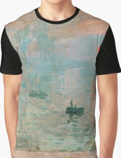 Claude Monet - Impression Sunrise Graphic T-Shirt