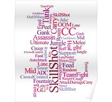 MOBA wordcloud - red wine Poster