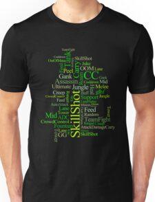 MOBA wordcloud - radioactive Unisex T-Shirt