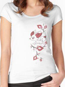 Fennekin Two Tone Women's Fitted Scoop T-Shirt