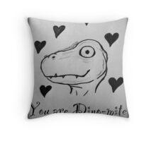Dino-Mite Love Throw Pillow