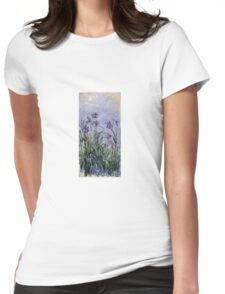 Claude Monet - Iris Mauves Womens Fitted T-Shirt