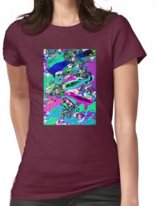 Neon Koi (Pastel) Womens Fitted T-Shirt