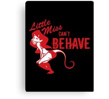 little miss Canvas Print