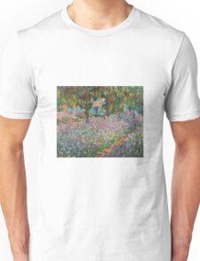 Claude Monet - Irises In Monets Garden Unisex T-Shirt