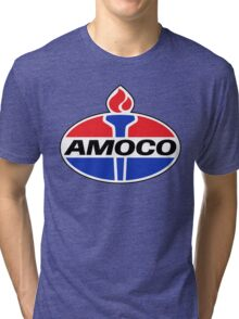 AMOCO oil vintage retro racing lubricant Tri-blend T-Shirt