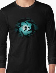 Shark Pool Life Swim Long Sleeve T-Shirt