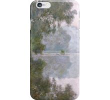 Claude Monet - Morning On The Seine Near Giverny iPhone Case/Skin