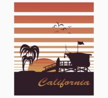 California surfing Kids Tee