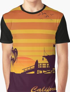 California surfing Graphic T-Shirt