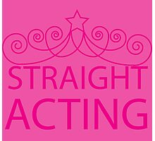 Straight Acting Photographic Print