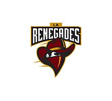 Team LA Renegades logo Photographic Print