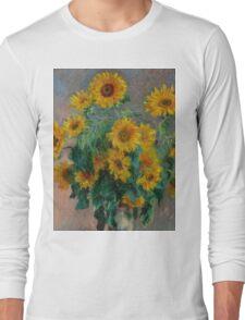 Claude Monet - Sunflowers Long Sleeve T-Shirt