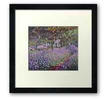 Claude Monet  -The Artists Garden At Giverny  Framed Print