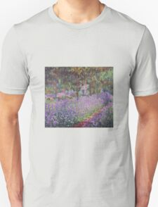 Claude Monet  -The Artists Garden At Giverny  T-Shirt
