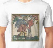 Aquarius Woodcut - 1512 Unisex T-Shirt