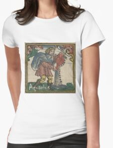 Aquarius Woodcut - 1512 Womens Fitted T-Shirt