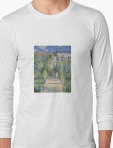 Claude Monet - The Artists Garden at Vetheuil  Long Sleeve T-Shirt