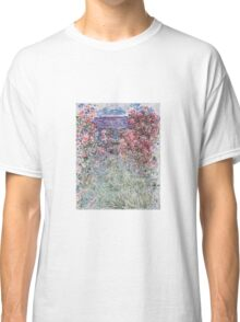 Claude Monet - The House In The Roses Classic T-Shirt