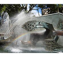 Newcastle (NSW) - Civic Fountain Rainbow Photographic Print