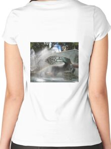 Newcastle (NSW) - Civic Fountain Rainbow Women's Fitted Scoop T-Shirt
