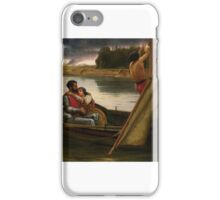 Frank William Warwick Topham - Voyage of King Arthur and Morgan Le Fay to the Isle of Avalon  iPhone Case/Skin