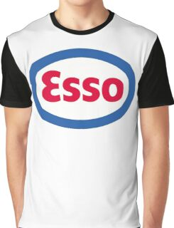 Esso Racing Oil Vintage Lubricant Graphic T-Shirt