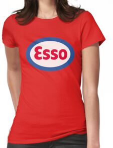 Esso Racing Oil Vintage Lubricant Womens Fitted T-Shirt