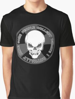 Biker Skull Motorcycle Attitude Graphic T-Shirt