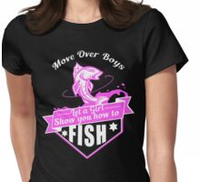 Fishing Girl Womens Fitted T-Shirt