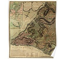 American Revolutionary War Era Maps 1750-1786 222 A plan of the city of New York & its environs to Greenwich on the North or Hudsons River and to Crown Point Poster