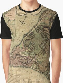 American Revolutionary War Era Maps 1750-1786 222 A plan of the city of New York & its environs to Greenwich on the North or Hudsons River and to Crown Point Graphic T-Shirt
