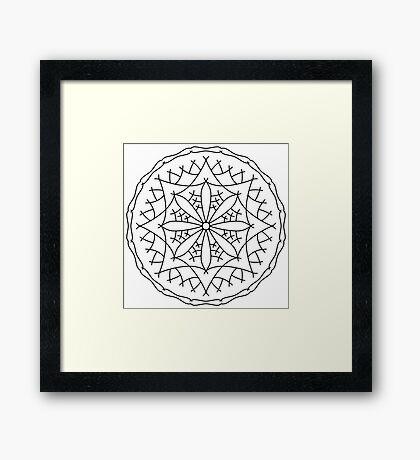 Mountain Flower Mandala Framed Print