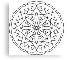 Mountain Flower Mandala Canvas Print