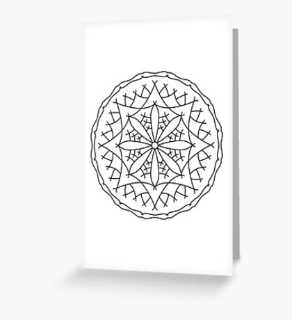 Mountain Flower Mandala Greeting Card