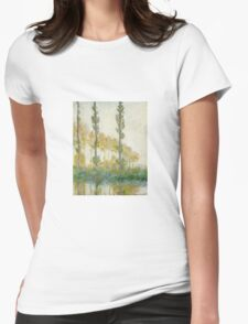 Claude Monet - The Three Trees Autumn Womens Fitted T-Shirt