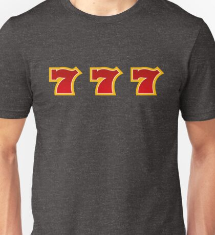 Jackpot 7 Seven Fruit Machine Unisex T-Shirt
