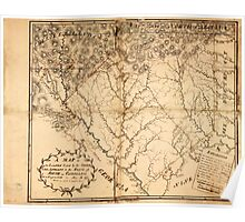 American Revolutionary War Era Maps 1750-1786 097 A Map of the lands ceded by the Cherokee Indians to the State of South Carolina at a congress held in May AD Poster