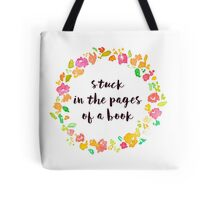 Stuck in the Pages of a Book Tote Bag