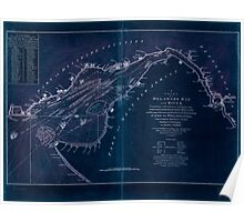 American Revolutionary War Era Maps 1750-1786 006 A chart of Delaware Bay and River  containing a full and exact description of the shores creeks harbours Inverted Poster