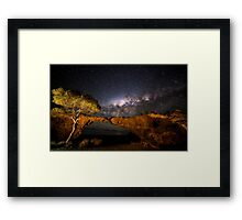 Sandstone London Bridge Milky Way Framed Print