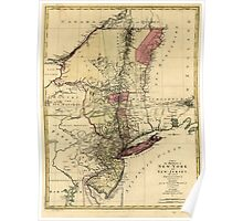 American Revolutionary War Era Maps 1750-1786 111 A map of the provinces of New York and New Jersey with a part of Pennsylvania and the Province of Quebec Poster