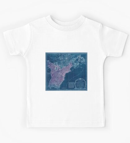 American Revolutionary War Era Maps 1750-1786 949 The United States of America with the British possessions of Canada Nova Scotia & of Newfoundland divided Inverted Kids Tee
