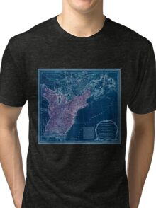American Revolutionary War Era Maps 1750-1786 949 The United States of America with the British possessions of Canada Nova Scotia & of Newfoundland divided Inverted Tri-blend T-Shirt