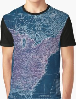 American Revolutionary War Era Maps 1750-1786 949 The United States of America with the British possessions of Canada Nova Scotia & of Newfoundland divided Inverted Graphic T-Shirt